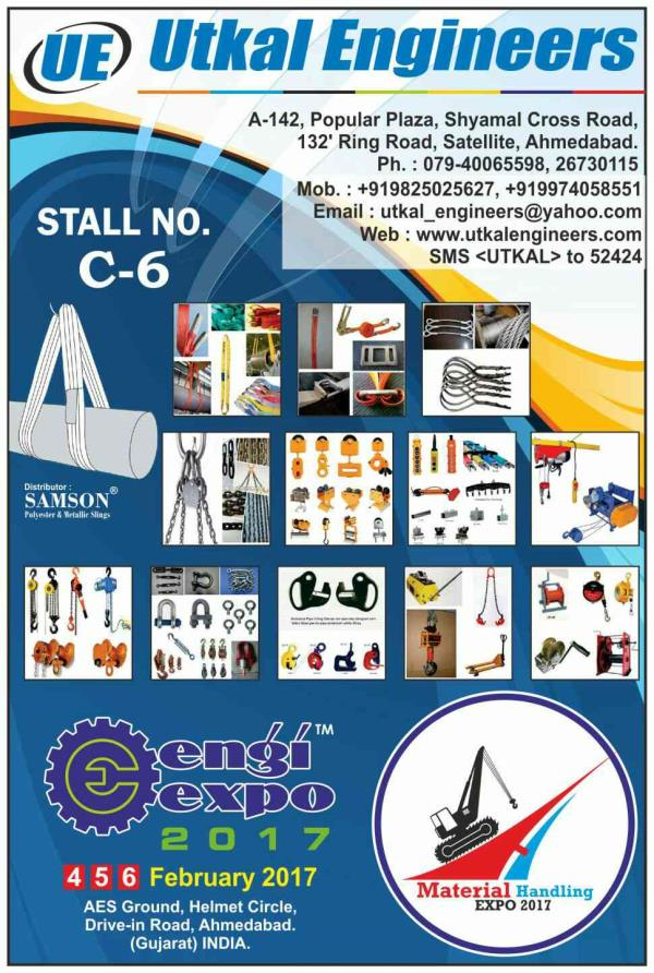 UTKAL ENGINEERS IS A VALUABLE PARTICIPANT IN ENGIEXPO-2017 Which is A Mega Industrial Exhibition in Ahmedabad. Engiexpo-2017 is at AES Ground, Helmet Circle from 4 to 6 February 2017. U will find many Innovative Products at this Show. Dont  - by Engi Expo 2017 | 9879111548 | www.engixpo.com, Ahmedabad