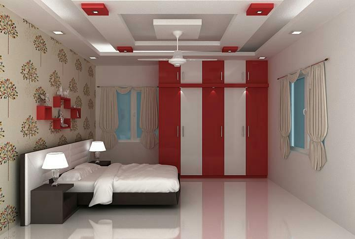 decorating walls with wallpaper and designed by splendid interiors teem in visakhapatnam