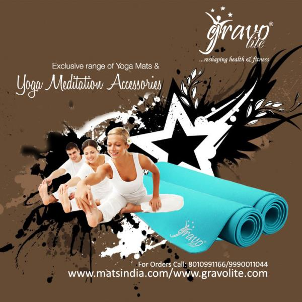 Buy elegantly designed yoga mats Online. These yoga mats designed from best quality raw material and fabrics to give you relaxation during yoga practice, which releases the negativity of the mind. Our range of products includes Exercise Mat - by Gravolite Yoga Mats, Delhi