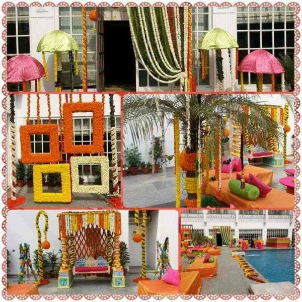 Photo booth area for a mehndi function at 5 Ashoka Road.  - by Super Tent House, New Delhi