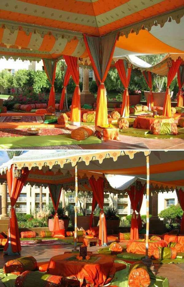 Moroccan style Mehndi Decor.  - by Super Tent House, New Delhi