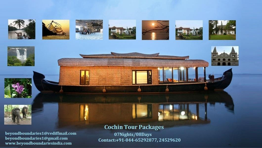 Cochin Sight Seeing Tour Packages-07Nights/08Days. For Tour Program and Cost Contact Beyond Boundaries. - by Beyond Boundaries, Chennai