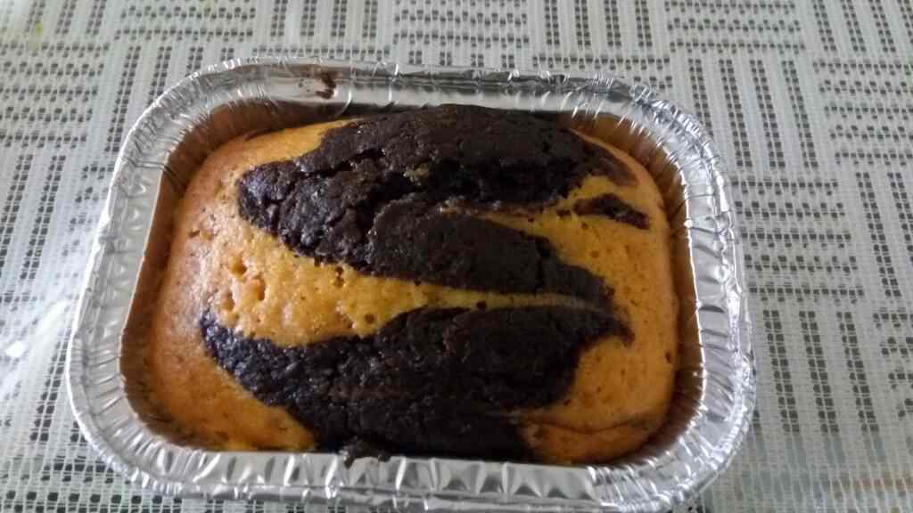 delicious dark chocolate with tangy orange marble effect cake for this Diwali 100% eggless from the makers of best fudges , chocolate s n cakes in ahmedabad Gujarat India  - by Rashis Fudge, Ahmedabad