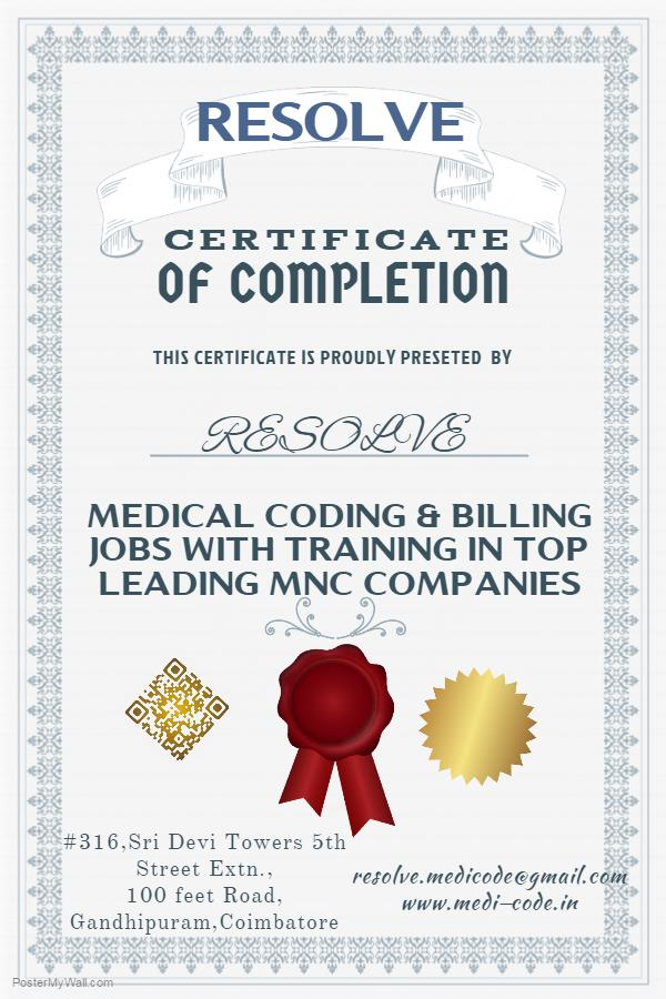Medical Coding Training In Madurai  We are Leading Medical Coding Training For freshers and experience with Placement all the Locations  Resolve medicode Provides Training for freshers in Madurai  Best Medical Coding training Centre in Madu - by Resolve MediCode, Coimbatore
