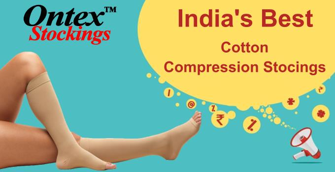 ONTEX Compression Stockings is India's best cotton compression stockings which is providing high quality with best price. Key Features: Provides relief from tired and aching legs Prevents your legs from varicose vein Reduces mild swelling M - by OnlineSurgicals.com - ✆09498000222, Chennai