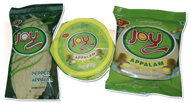 JOY APPALAM - An premium high quality Indian Papad at affordable price from India's No 1 Appalam Brand, Anufoods - The Leading Traditional Handmade Appalam Manufacturer and Exporter from Madurai, Tamil Nadu, India.    Lot more offers to che - by Anufoods - Appalam Manufacturer And Exporter In Madurai, Madurai