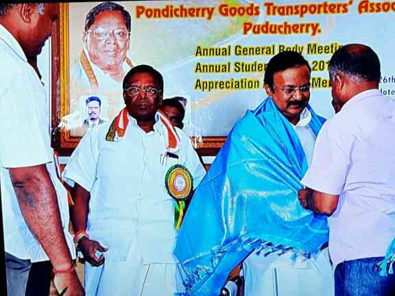 Honouring Transport minister - by KEERTHIROADLINES, Pattanur
