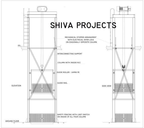 Goods lift / Cage lift   Shiva Projects are a leading manufacturer of Goods lift / Cage lift In Anand, Gujarat.   Shiva Projects are a leading supplier of Goods lift / Cage lift in Surat, Vapi
