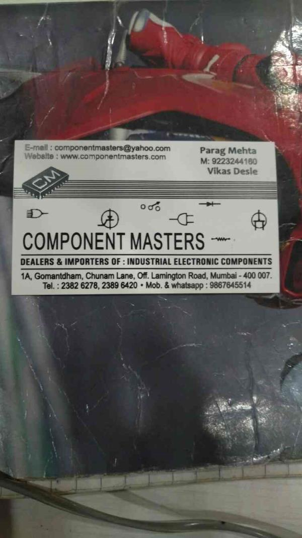 Component Masters is the Leading Exporter of Industrial Electronic Components in Mumbai