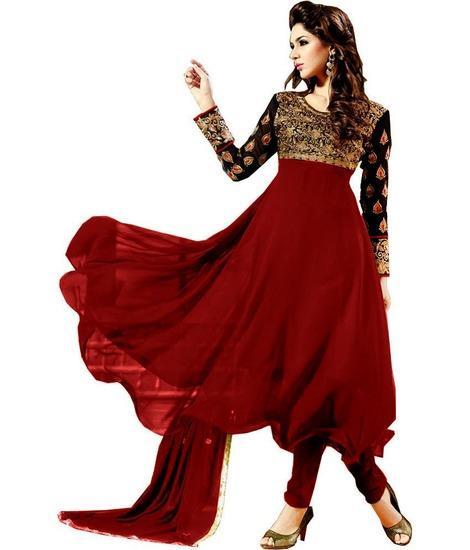#Anarkali #Dress #Salwarsuit #Sarees #kurtis #Designer #Embroidery #Goergette #Western #Top #Dressmaterial #Patiala #Churidar - by Unique Fashion, Surat