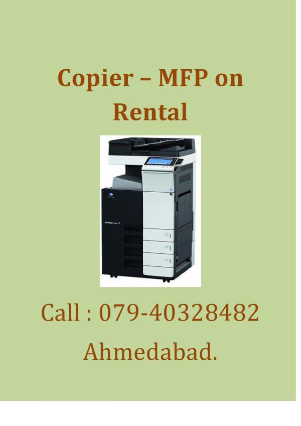 Laser World provide you copier rental services in Ahmedabad. we also provide you printing rental services in Ahmedabad  - by Laser World, Ahmedabad