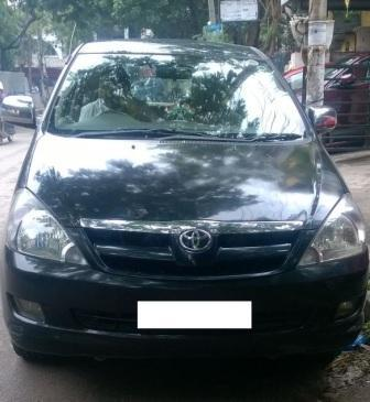 TOYOTA INNOVA 2.5 V 7STR:MODEL 06/2006, KM 277163, COLOUR BLACK, FUEL DIESEL, PRICE 625000 NEG.USED VEHICLE FOR SALE COMPLEAT SHOWROOM TRACK  - by Nani Used Cars, Hyderabad