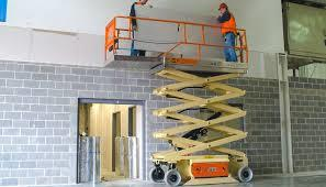Scissor Lifts for Rental Available in Chennai  Scissor lifts enable access to elevated work areas by raising a gantry with a scissor mechanism.