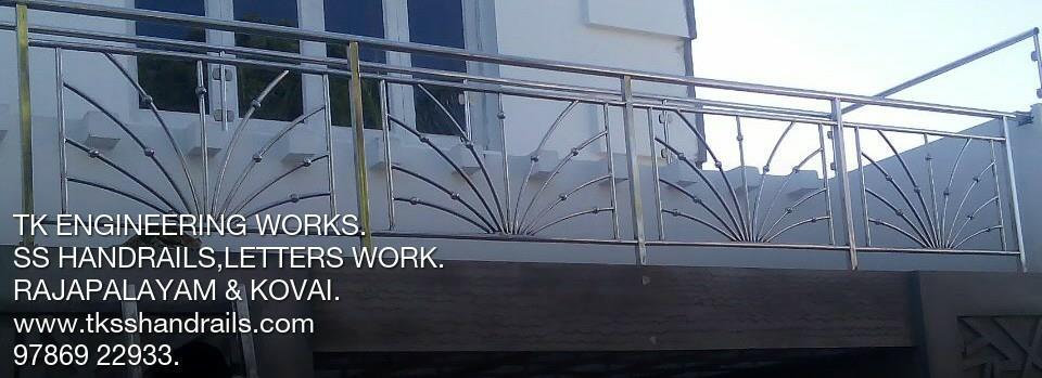 """TK ENGINEERING WORKS """""""""""""""""""""""""""""""""""""""""""""""""""""""""""""""""""""""""""""""""""""""""""""""""""""""""""""""" Stainless Steel handrails in Madurai. Stainless Steel handrails in Viruthunagar. Stainless Steel handrails in CHENNAI. Stainless Steel handrails in Kumbam. Stainless Steel handrails in Theni - by Handrails Work, Rajapalayam"""