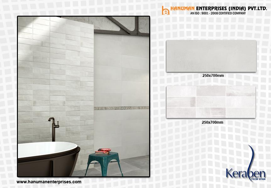 New range of designer wall tiles from Spain will bring a truly soothing feel in any bathroom. For more info visit at www.hanumanenterprises.com - by Hanuman Enterprises India Pvt. Ltd., Hyderabad