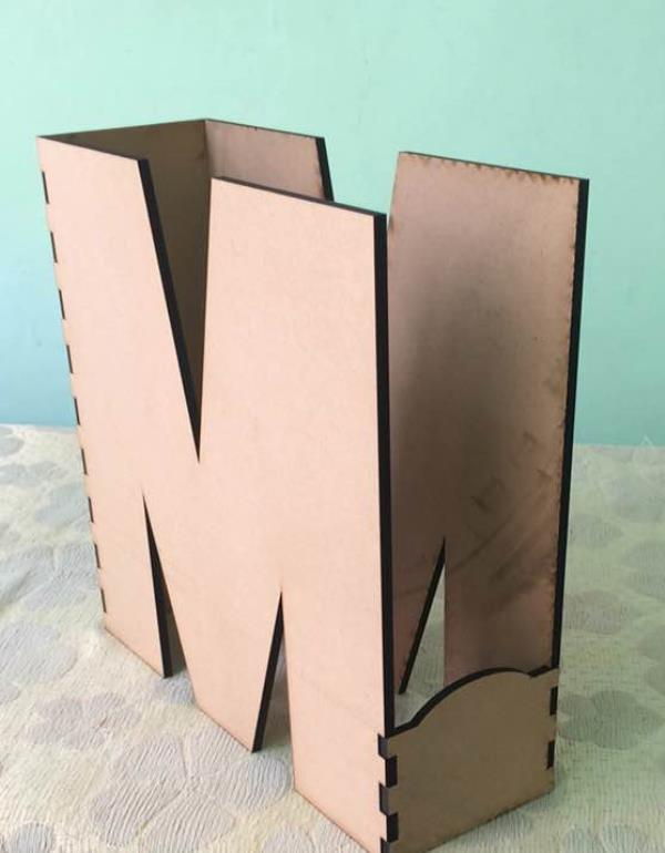 Laser cutting job work machines in india Laser cut M shape box .... Creative laser cut designs  - by LASER CRAFTS ONLINE  Get Your Product Design Custom Made By Our Designers, Jaipur (Rajasthan)
