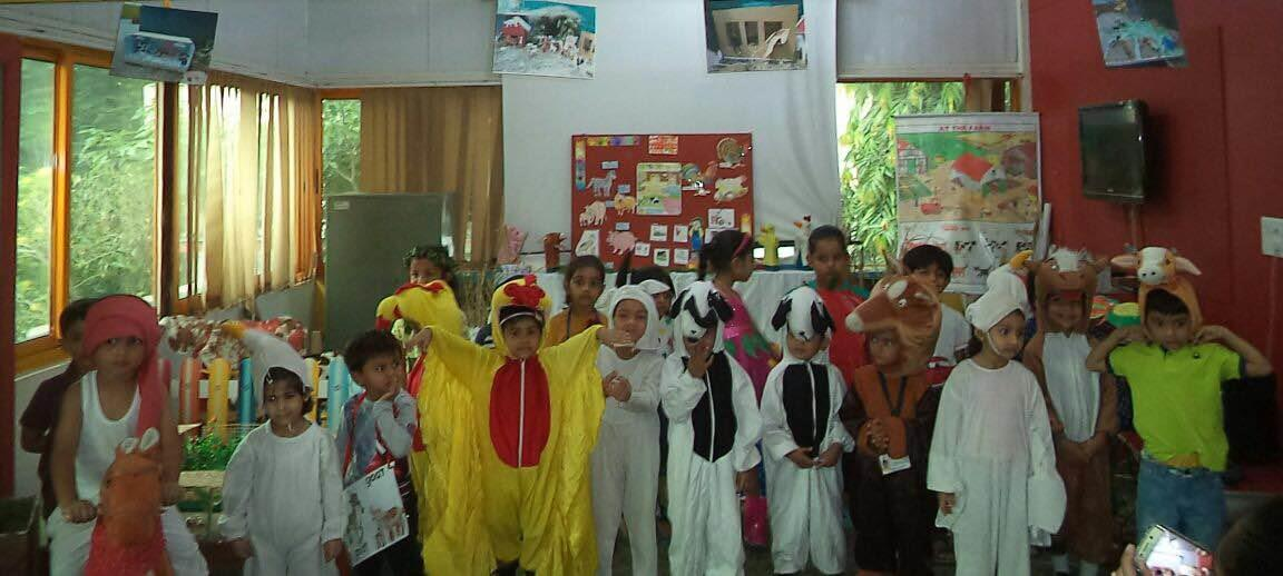 Children dressed as Farm Animals on their Special Day at Navrangpura Branch - by Olive Green Kids School, Ahmedabad