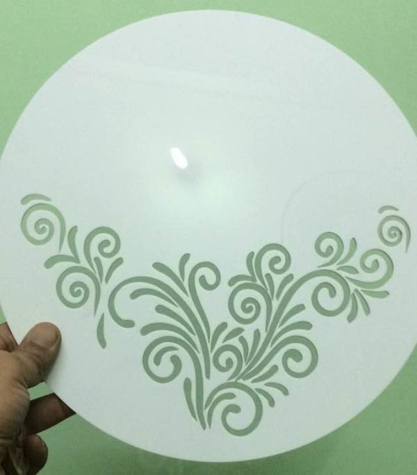 Latest laser cut design job work as dinning table matt on imported white gloss acrylic Kiranholographics lowest rates of laser cutting in jaipur - by LASER CRAFTS ONLINE  Get Your Product Design Custom Made By Our Designers, Jaipur (Rajasthan)