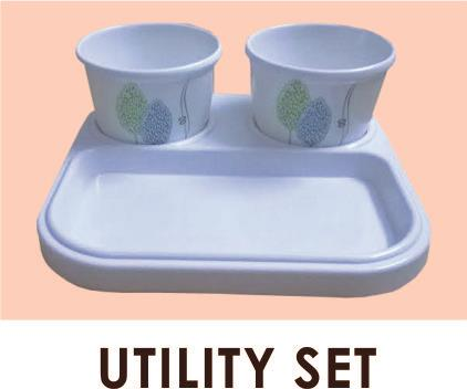 Two Jars with Lid and One Serving Tray - by Tintin Crockery, Faridabad