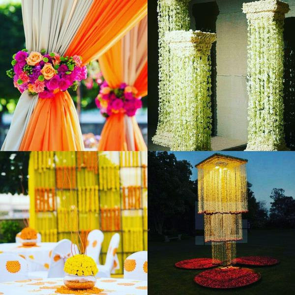 Indian wedding season is coming! Your shaadi is much more fun when it is decorated with floral props. Click beautiful pictures with these flower masterpieces ad create memories. Wedding planning in Kanpur. - by Test Biz, Hyderabad