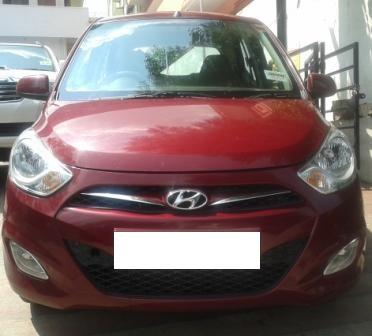 HYUNDAI I10 BLUE DRIVE SPORTZ:MODEL 03/2015, KM 10156, COLOUR RED, FUEL PETROL +LPG, PRICE 490000 NEG.USED VEHICLE FOR SALE COMPLEAT SHOWROOM TRACK. - by Nani Used Cars, Hyderabad