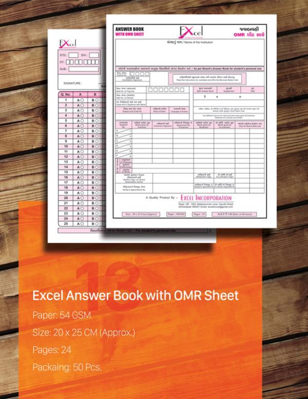 we are leading #manufacturers of Answer Book with OMR Sheet from Ahmedabad, Gujarat, India.    For customize order of Answer Book with OMR Sheet Contact us   M: +91 9879591415 (Ahmedabad, Surat, Rajkot, Gandhinagar, Baroda) M: +91 9879774546 (Palanpur, Banaskantha, Himmatnagar, Bhavnagar, Mumbai, Rajasthan) E: excelincorp@gmail.com (rest of India)