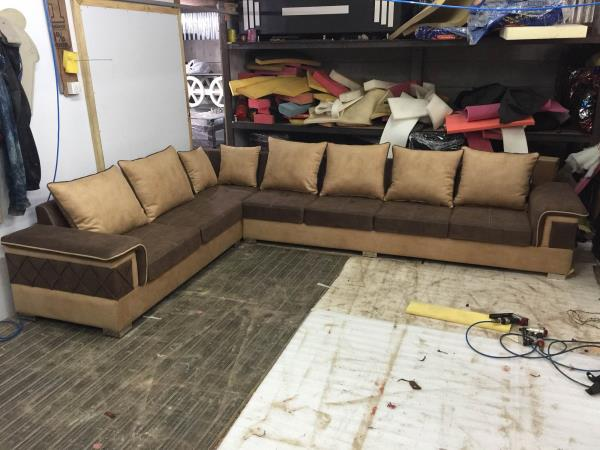 L shape sofa set manufacturers in ahmedabad  Lots of colours and design choices available  Also customised as your requirements. Made any design sofa very affordable rates . Call ; 09725633161 - by Akshar Furniture, Ahmedabad