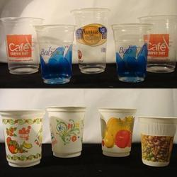 We do custom printing in cups till 8-colors which is the last possible in dry-offset printing. we have the latest machine for printing disposable cups with 500 cups per minute printing speed with well trained staff and best quality inks used to make your brand stand out  in market. Custom printed cups