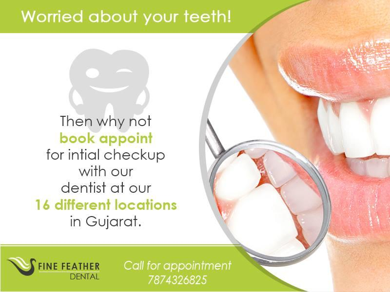 Do not hide your smile simply because you are embarrassed about your broken teeth. Our Dentists value your smile. We completely understand that how important it is to first ascertain clinically if it is a right case for Dental Implant or no - by FineFeather Dental Satellite, Ahmedabad