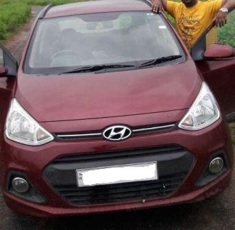 HYUNDAI I10 GRAND SPORTZ 1.2:MODEL 01/2014, KM 32585, COLOUR RED, FUEL PETROL, PRICE 465000 NEG.USED VEHICLE FOR SALE COMPLEAT SHOWROOM TRACK. - by Nani Used Cars, Hyderabad