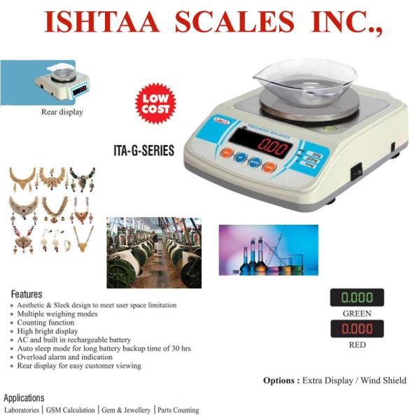 ISHTAA -  provide quality Precision Scales  Ishtaa – ITA – G - Series Best Jewellery Weighing Scales Buy now @ Ishtaa Coimbatore Click here to know more    Gem Weighing Scales at Best Quality Piece Counting Weighing  scale  Cotton Mills Wei - by Accurate Electronics, Coimbatore