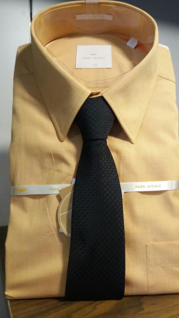 Men's Shirt With Tie Available Raymond Store In Bareilly.
