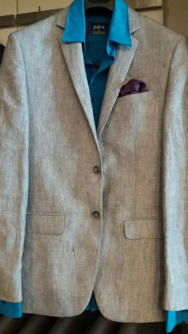 Blazer With Shirt Available Raymond Store In Bareilly.